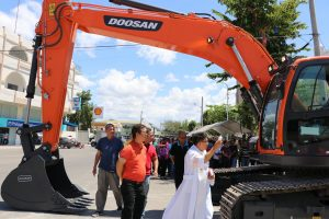 Blessing of the Newly Purchased Backhoe of the City Government of Batac