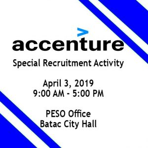 Accenture Special Recruitment Activity