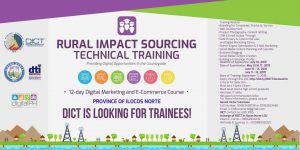 Rural Impact Sourcing Technical Training – DICT