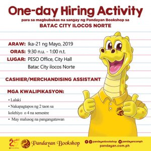 One-day Hiring Activity – Pandayan Bookstore