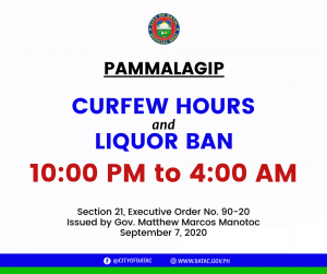 Curfew Hours and Liquor Ban